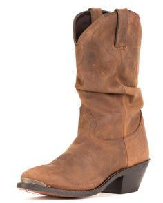 """Durango Women's 11"""" Western Slouch Boots - Distressed Tan I have had THREE pairs of this same boot.... I LUV EM! they are comfortable and durable! Mine finally saw WAY TOO MANY PASTURES.... i think i need a new pair!"""