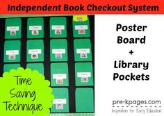 How to Set Up an Easy Way for Kids to Checkout Books to Take Home in #preschool and #kindergarten