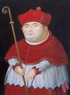 Fernando Botero, Cardinal, 1998  #botero #paintings #art