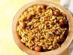 tamarind rice recipe with step by step photos. traditional method of making tamarind rice recipe. Tamarind Rice Recipes, Cooked Rice Recipes, Leftover Rice Recipes, Lunch Recipes, Dinner Recipes, Yummy Recipes, Vegan Recipes, Kitchens, Vegane Rezepte