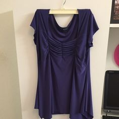 Purple Blouse Beautiful top! Fits more like a large Tops Blouses