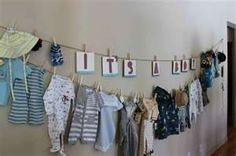 Baby shower decorating idea.