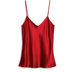 Hellessy Caroline Satin Camisole ($365) ❤ liked on Polyvore featuring tops, lingerie, camisoles, tank tops, burgundy, red camisole, strappy cami, red satin camisole, v neck camisole and satin camisole