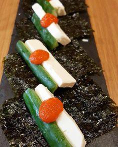 We're getting a taste of the new Japanese restaurant @izakayayacchaba. Cream cheese and mentai norimaki. : @enjyelkadi