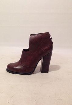 Vintage 90s Dark Brown High Heel Slip On by AllTheMissingPieces
