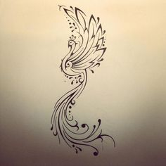 Phoenix Tattoo Designs | Tribal Phoenix Tattoo Designs for Men: