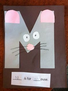 M is for mouse Pre-K letter M craft