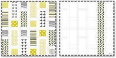 tutorial - Michael Miller Fabrics' Citron-Gray Nursery: Patchwork Baby Quilt with Monogram