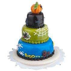 Jack-O'-Lantern+3-Tier+Cake