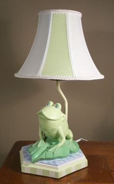 Frog, Lamp, frog, light, and, decor, baby and kids lighting by All Kids Lamps.