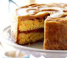 Perfectly Moist Caramel Cake with Caramel Frosting Recipe. This cake is to die for! The cake is sweet and moist while the icing dries to form a crust that adds just the right amount of chew to ea...