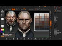 Dishonored Overseer fan art: ZBrush timelapse - YouTube