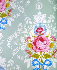 Pip Studio Shabby chic green wallpaper - Pip Studios