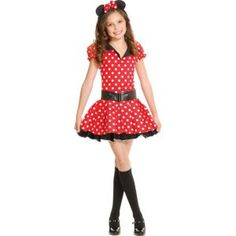 Teen Girls Miss Mouse Costume This is what I want to be for Halloween. Teen Girl Costumes, Cute Halloween Costumes For Teens, Halloween Costume Shop, Movie Costumes, Halloween Ideas, Halloween Dance, Disney Halloween, Minnie Mouse Costume, Young Girl Fashion