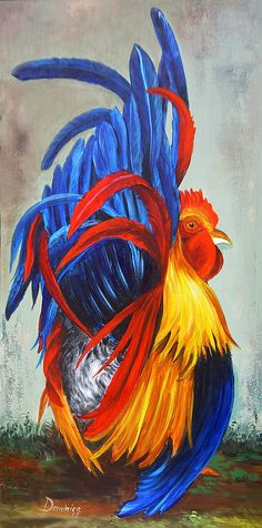Rooster Showing Off ~ Dominica Alcantara