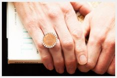 Jewel-Encrusted Penny Ring | Community Post: 25 Pretty Penny Projects To DIY