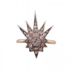 18k Gold & Diamond reworked antique ring