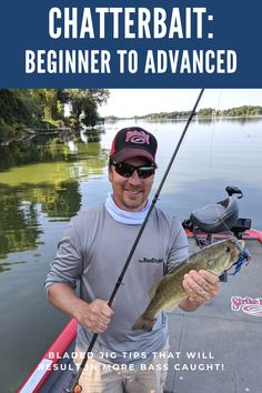 """Chatterbaits, or """"Bladed Jigs,"""" are much more versatile than we often give them credit for. Catch more bass more often with these bladed jig tips. Fishing Stuff, Fishing Girls, Fishing Life, Bass Fishing Lures, Fishing Knots, Catfish Bait, Fishing For Beginners, Bass Boat, Fishing Techniques"""