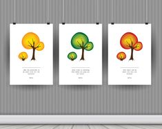 Your inspirational trees wall art, a vector illustration with motivationa quatation by RIXdiary on Etsy Accent Wall Decor, Wall Art Decor, Purple Orchids, Paper Wallpaper, Pillow Fabric, Tree Wall Art, Digital Wall, Scrapbook Stickers, Shabby Cottage