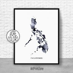 Philippines watercolor map philippines wall art philippines 800 philippines print philippines art print watercolor print philippines map wall art publicscrutiny Images