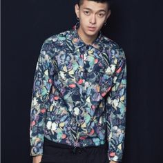 Personalized butterfly bomber jacket for men stand collar pocket design Printed Bomber Jacket, Bomber Jacket Men, Latest Mens Fashion, Butterfly Design, Sleeve Designs, Winter Coat, Trousers, Pocket, How To Wear