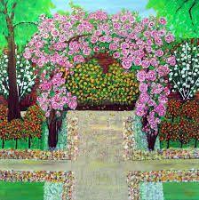 Lukisan Pemandangan Di Taman Bunga Poisk V Google Pemandangan Bunga Taman