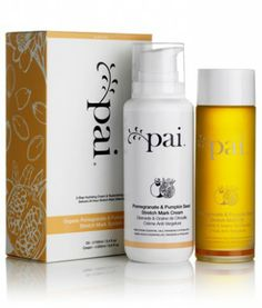 """Pai Skincare's Pomegranate & Pumpkin Seed Oil wards off stretchmarks while pregnant."""" Pai Pomegranate & Pumpkin Seed Organic Stretch Mark System helps prevent and improve the visible effects of stretching on the skin. Oil For Stretch Marks, Stretch Mark Cream, Organic Beauty, Organic Skin Care, Natural Beauty, Granada, Bio Oil Before And After, Bio Oil Pregnancy, Bio Oil Uses"""