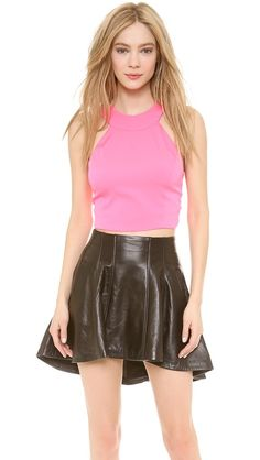6186c19d5c99 Olcay Gulsen Strapped Back Crop Top Skater Skirts