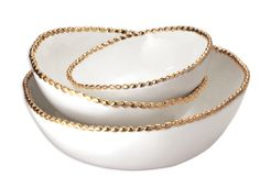 Gold Studded Stacking Bowls by Magenta