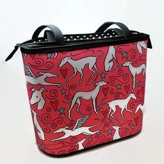 Hey, I found this really awesome Etsy listing at https://www.etsy.com/listing/252010758/greyhound-bucket-bag-hound-parade