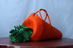 The Carrot Natural Felt Bag. $155.00, via Etsy.