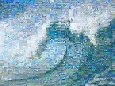 Wave Mosaic by helen melon, via Flickr  http://www.flickr.com/photos/helencorker/19879574/