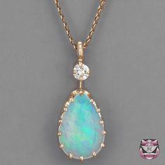 Vintage Opal Necklace, close up