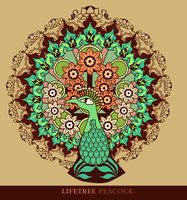 Lifetree Peacock by dream-logic - for possible adaptation as a tattoo idea.