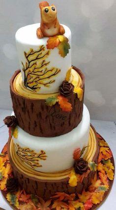 AUTUMN TREE WEDDING CAKE by JojosCupcakeMadness - http://cakesdecor.com/cakes/294884-autumn-tree-wedding-cake