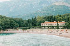 Milocer Villa on Adriatic sea coast in Montenegro.