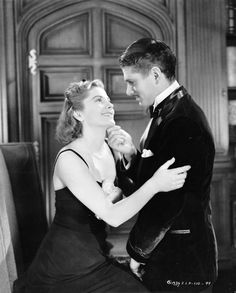 "Lawrence Olivier and Joan Fontaine in ""Rebecca."" Flawless casting, they made a great couple."