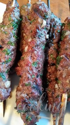Kafta lebanese beef kebabs kebabs honey and aleppo pepper grilled kafta kebabs and a cookbook review forumfinder Images
