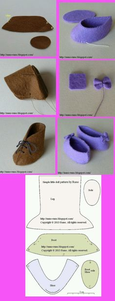 Menina de Pano | Blog: Tutoriais e Moldes de Sapatinhos em Feltro e Tecido