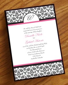 Elegant Damask Wedding Invitation. $2.25, via Etsy.