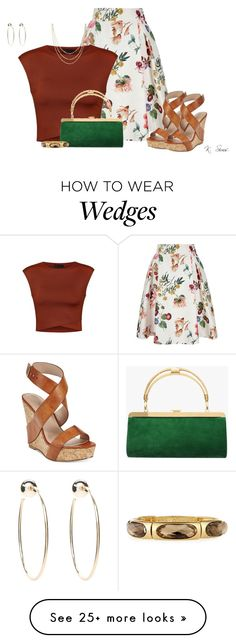 """""""Skater & Wedges"""" by ksims-1 on Polyvore featuring Yumi, Charles by Charles David, Ally Fashion, Balmain, Allurez, Emily & Ashley and Bebe"""