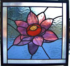 Plum lotus blossom by QuinnGlass on Etsy, $40.00