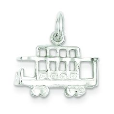 Sterling Silver Trolley Charm Jewelry San Francisco * Continue to the product at the image link. (This is an affiliate link) #JewelryForSale