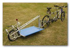 DIY trailer with instructions Appropriate Technology, Bike Storage Rack, Drift Trike, Cargo Trailers, Cargo Bike, Bike Parts, Bike Design, Road Bike, Motorhome