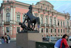 Petersburg. The Anichkov Palace from the Anichkov Bridge