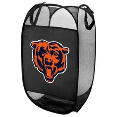 This pop-up hamper is the perfect accessory for any Chicago Bears fan's room. Measuring approx. 14″ wide and over 24″ tall, the hamper features your favorite team's logo on the side. It is made from lightweight mesh fabric for ventilation, and folds flat for easy storage. Makes a perfect gift.