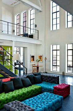 colorful sofa / kolorowa sofa  W poszukiwaniu unikalnego projektu - zapraszamy na www.loftstudio.pl