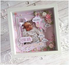 Metryczka i dwie kartki / A handmade baby certificate and two cards Diy And Crafts, Arts And Crafts, Paper Crafts, Lemon Crafts, Baby Frame, Ikea, Baby Planning, Baby On The Way, Cute Diys