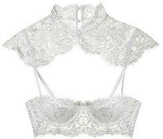 The Victoria's Secret Designer Collection Lace Balconet Bra #lingerie #white #sexy