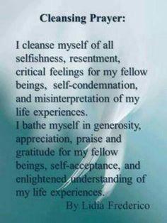 Cleansing Prayers
